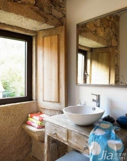 田园风格浴室装修效果图