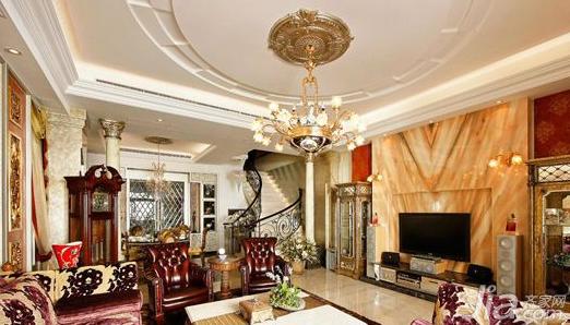 欧式客厅瓷砖效果图欣赏