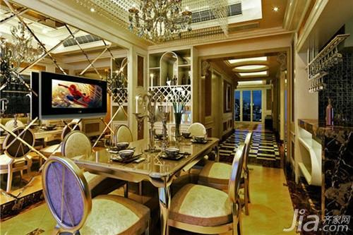 欧式风格餐厅吊顶装修效果图大全2013图片
