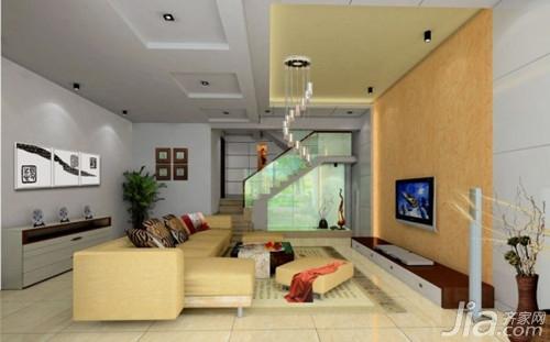复式楼客厅吊顶设计效果图